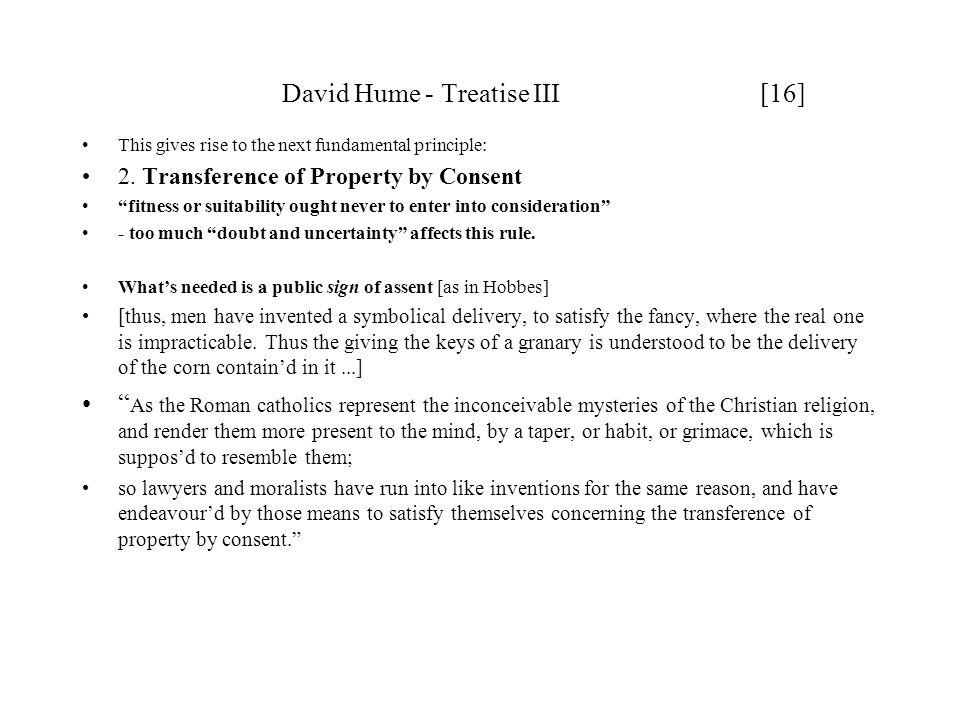David Hume - Treatise III [16]